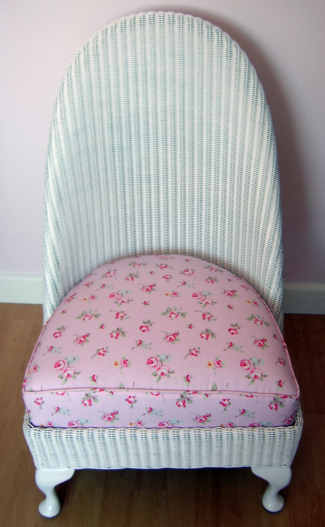 upcycled lloyd loom nursing chair folksy. Black Bedroom Furniture Sets. Home Design Ideas