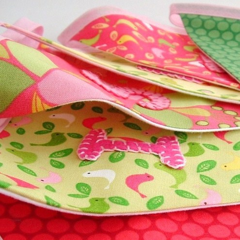 Girls Personalised Bunting - HOPSCOTCH