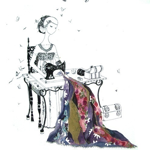 The Singer - Ink Drawing (Print)
