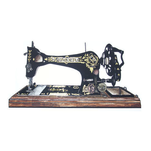 Old Singer Sewing Machine Drawings http://folksy.com/items/589389-The-Sewing-Machine-Ink-Drawing-Print-