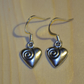Small Heart, with Swirl, Earrings