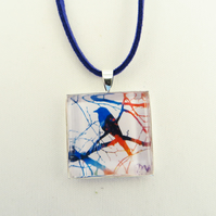 Bird on a branch Pendant