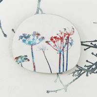 Colourful Botanical Wild Flower Brooch