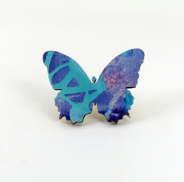 Butterfly Wooden Brooch