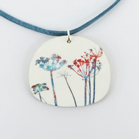 Colourful Wild Flower Pendant