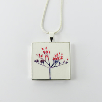 Small Square Flower Pendant