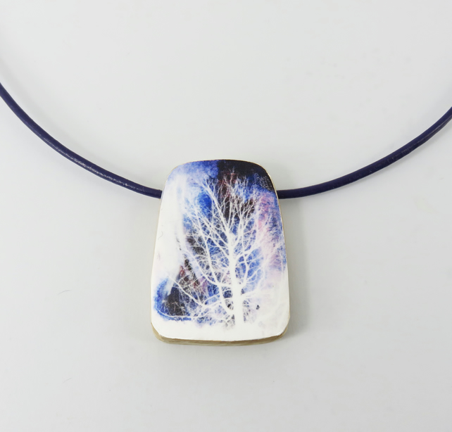 Frosted Tree Pendant