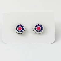 Colourful Daisy Stud Earrings