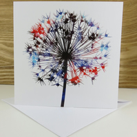 Botanical Flower Greeting Card