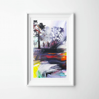 Running Men Art Print