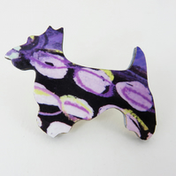 Colourful Scotty Dog Brooch