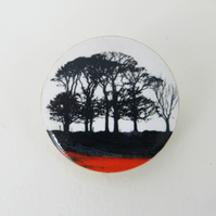 Line of Trees Brooch