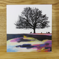Artistic Trees and Forest Greeting Card
