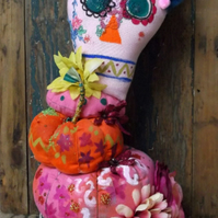 Day of the Dead Skulls Decoration, Pumpkins, skulls, wedding custom piece