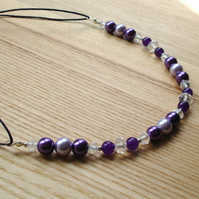 Purple Sparkle Bead Necklace