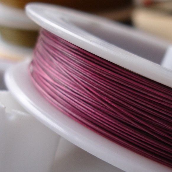 5m Metallic Pink Tiger Tail Nylon Coated Jewellery Wire