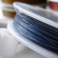 5m Metallic Blue Tiger Tail Nylon Coated Jewellery Wire
