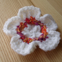 Crochetted Flower Brooch