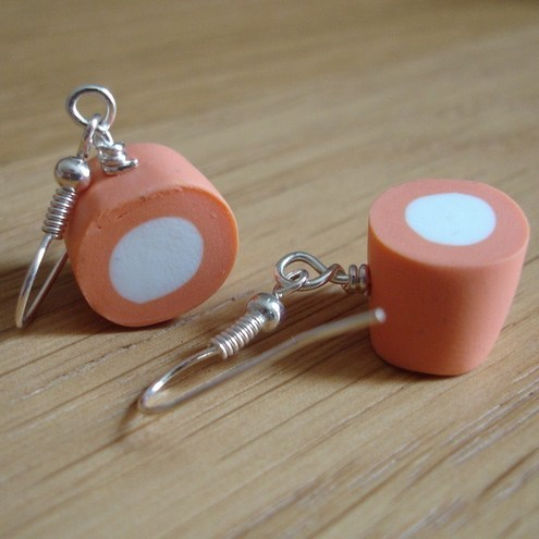Orange Round Dolly Mixture Earrings
