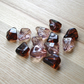 12 Golden Brown and Peach Acrylic Nugget Beads