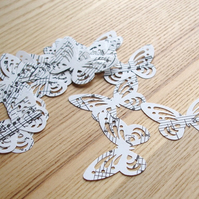 50 Music Butterfly Confetti