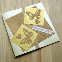 Thinking Of You Butterflies Greetings Card