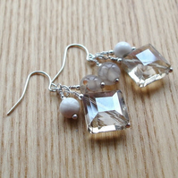 Champagne Crystal Cluster Earrings