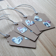 Floral Heart Gift Tags (Pack of 4)