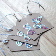 Floral Butterfly Gift Tags (Pack of 4)