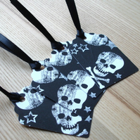 Gothic Skulls Gift Tags (Pack of 4)
