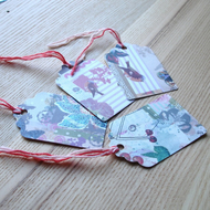 Pretty Patterned Gift Tags Set 4 (Pack of 4)