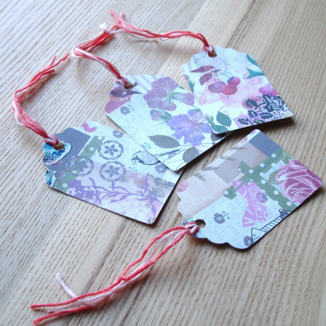 Pretty Patterned Gift Tags Set 6 (Pack of 4)