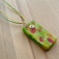 Lemon and Lime FIMO Polymer Clay Pendant