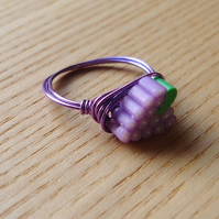 Juicy Grapes Wire Wrapped Ring