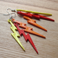 Citrus Lightning Bolt Earrings
