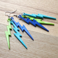 Aqua Lightning Bolt Earrings