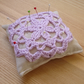 Large Crochet Pin Cushion in Lilac