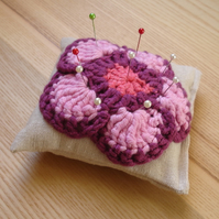 Crochet Flower Pin Cushion