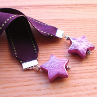 Purple Star Bookmark