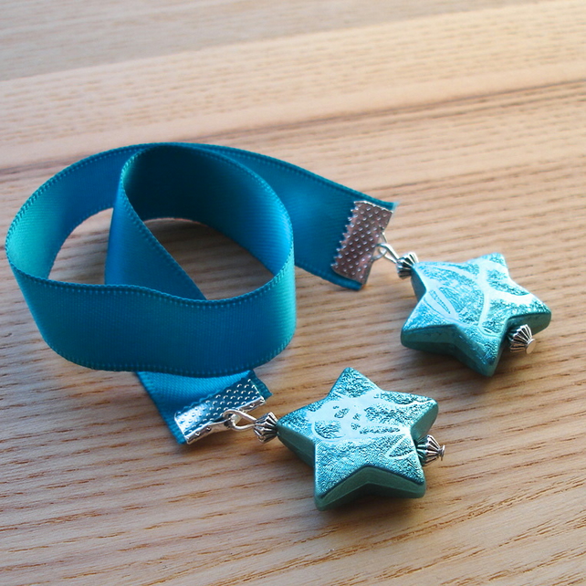 Teal Star Bookmark