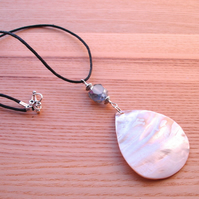 Large Shell Teardrop Pendant