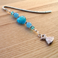 Turquoise Dress Charm Bookmark