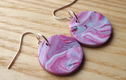 Polymer Disc Earrings