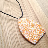 Patchwork Millefiori Polymer Clay Pendant
