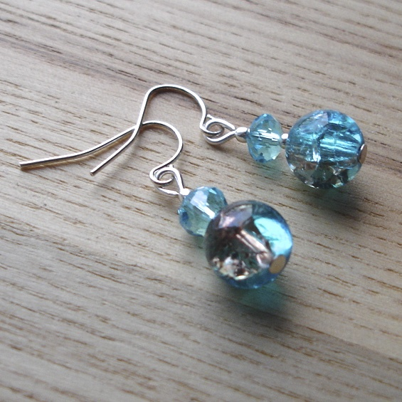 Shimmering Seas Bead Earrings
