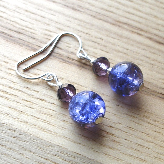 Purple Passion Bead Earrings