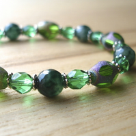 Green Sparkle Bead Bracelet