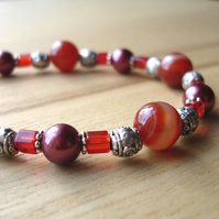 Burning Embers Bead Bracelet