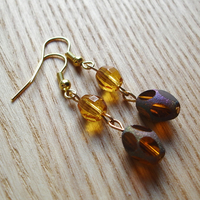 Golden Shimmer Earrings