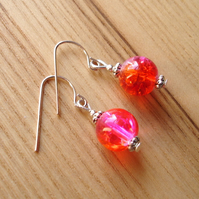 Pink Bead Earrings